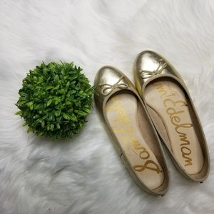 Sam Edelman Carrie Society Bow Gold Pallet Flats S